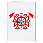 Regalos del logotipo del departamento del fuego de felicitación
