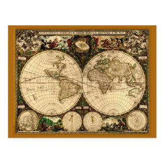 Regalos del mapa de Viejo Mundo Postales