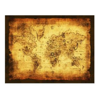 Regalos del mapa de Viejo Mundo Postal