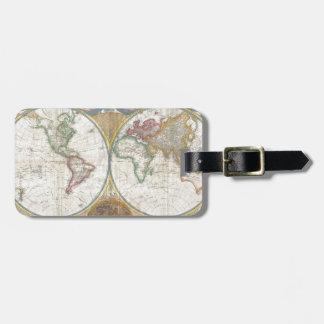 Regalos del mapa del mundo etiquetas para maletas