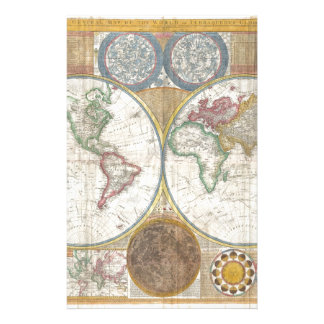 Regalos del mapa del mundo  papeleria de diseño