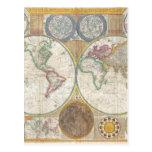 Regalos del mapa del mundo postal