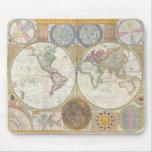 Regalos del mapa del mundo tapetes de ratones