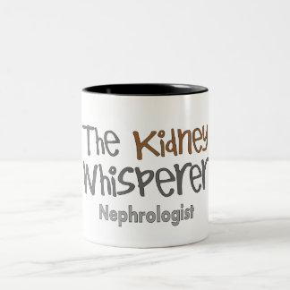 Regalos del médico del nefrólogo, chistosos taza de dos tonos