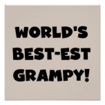 Regalos del Mejor-est Grampy del mundo negro del t Posters