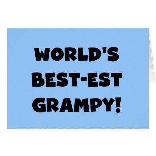 Regalos del Mejor-est Grampy del mundo negro del t Tarjeton