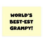 Regalos del Mejor-est Grampy del mundo negro del t Postales