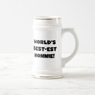 Regalos del Mejor-est Nonnie del mundo negro del t Taza De Café