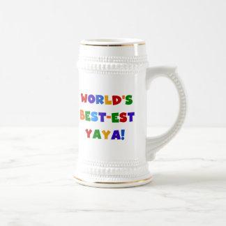 Regalos del Mejor-est Yaya del mundo brillante de Tazas De Café