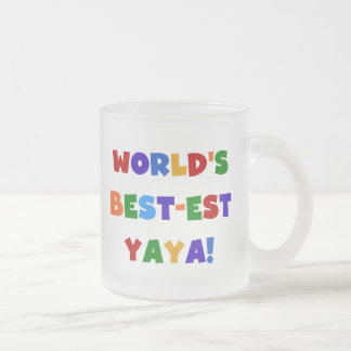 Regalos del Mejor-est Yaya del mundo brillante de Taza De Café