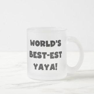 Regalos del Mejor-est Yaya del mundo negro del tex Tazas De Café