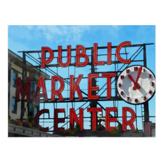 Regalos del mercado público de Seattle Washington Postales