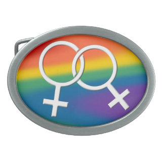 Regalos del mismo sexo del amor de la hebilla del  hebilla de cinturon oval