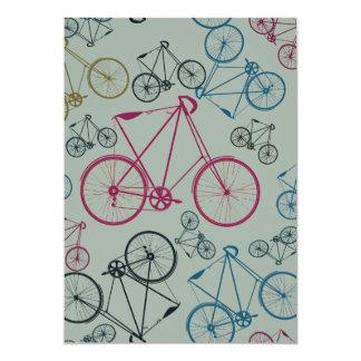 Regalos del modelo de la bicicleta del vintage invitación 12,7 x 17,8 cm