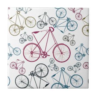 Regalos del modelo de la bicicleta del vintage par azulejo cuadrado pequeño