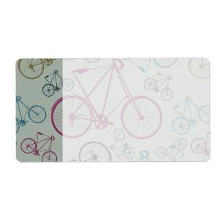 Regalos del modelo de la bicicleta del vintage par etiqueta de envío
