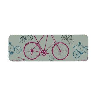 Regalos del modelo de la bicicleta del vintage par etiqueta de remite