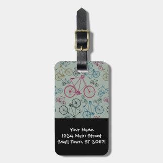 Regalos del modelo de la bicicleta del vintage par etiquetas de equipaje