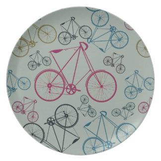 Regalos del modelo de la bicicleta del vintage par platos de comidas