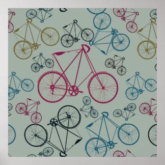 Regalos del modelo de la bicicleta del vintage par póster