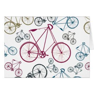 Regalos del modelo de la bicicleta del vintage par felicitación