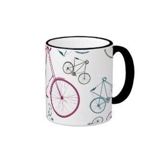 Regalos del modelo de la bicicleta del vintage par taza a dos colores