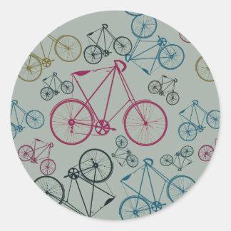 Regalos del modelo de la bicicleta del vintage pegatina redonda