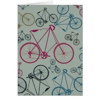 Regalos del modelo de la bicicleta del vintage tarjeta de felicitación