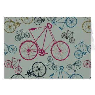 Regalos del modelo de la bicicleta del vintage tarjeta pequeña