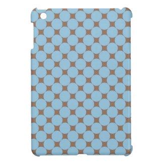 Regalos del modelo de lunar del moreno de los azul iPad mini protectores