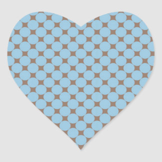 Regalos del modelo de lunar del moreno de los azul calcomanía de corazón