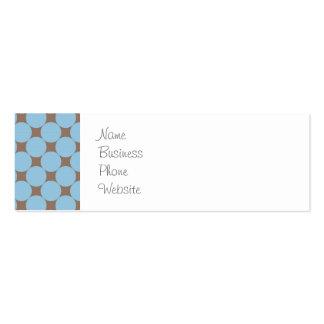 Regalos del modelo de lunar del moreno de los azul plantilla de tarjeta de negocio