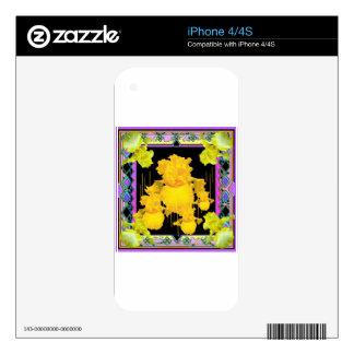 Regalos del modelo del jardín del iris del calcomanías para el iPhone 4S