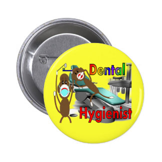 Regalos del mono del calcetín del higienista denta pin redondo 5 cm