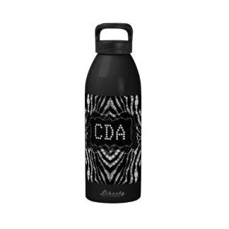 Regalos del monograma del estampado de animales de botellas de agua reutilizables