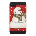 Regalos del muñeco de nieve iPhone 4 Case-Mate coberturas