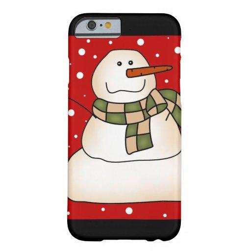 Regalos del muñeco de nieve funda de iPhone 6 barely there