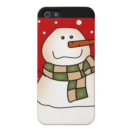 Regalos del muñeco de nieve iPhone 5 funda