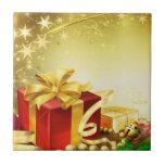 Regalos del navidad azulejo cerámica