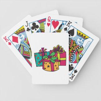 Regalos del navidad baraja cartas de poker