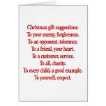 Regalos del navidad con decir o cita felicitaciones