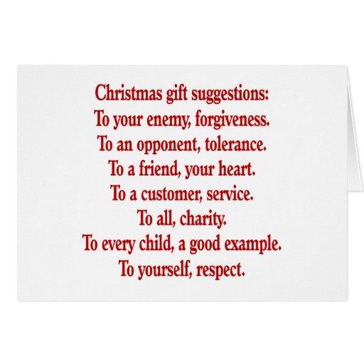Regalos del navidad con decir o cita tarjeta
