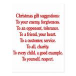 Regalos del navidad con decir o cita tarjetas postales