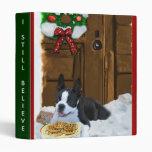 """Regalos del navidad de Boston Terrier Carpeta 1"""""""