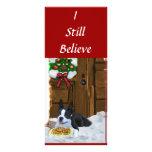 Regalos del navidad de Boston Terrier Diseño De Tarjeta Publicitaria