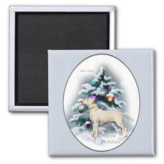 Regalos del navidad de bull terrier imán de frigorífico