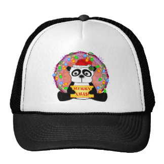 Regalos del navidad de la panda gorras