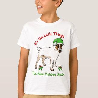 Regalos del navidad de Russell Terrier del párroco Playera
