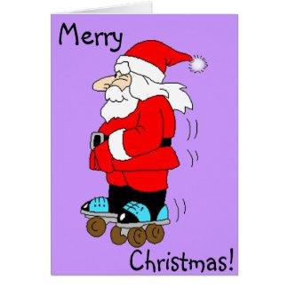Regalos del navidad de Santa y del reno Tarjeta De Felicitación