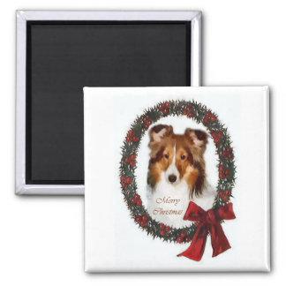 Regalos del navidad de Sheltie del perro pastor de Iman